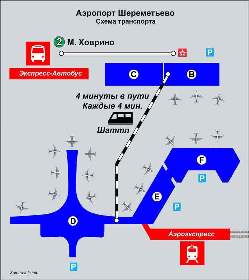 Экспресс автобус до Шереметьево Терминал B и Терминал С