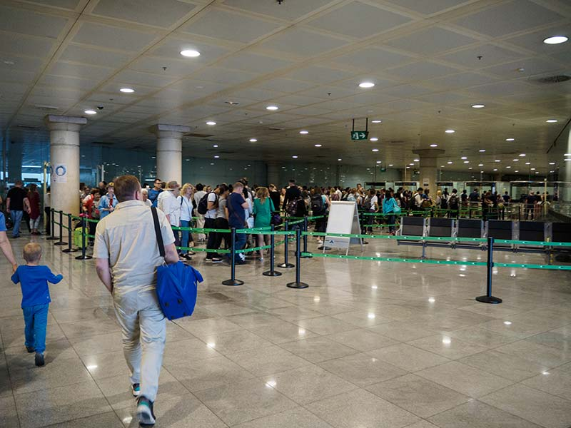 3. Паспортный контроль в Barcelona-El Prat