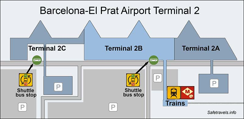 7. Схема терминала 2 Barcelona-El Prat